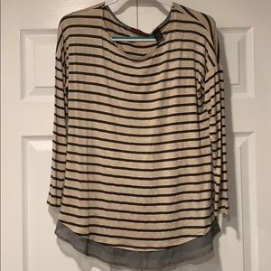 Buckle BKE Red striped top- size M